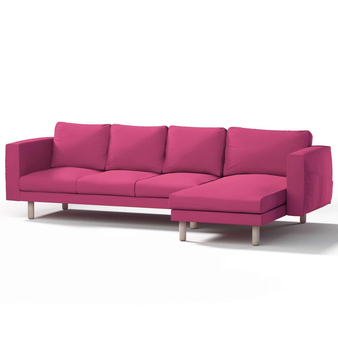 Pokrowiec na sofę Norsborg 4-osobową z szezlongiem w kolekcji Etna, tkanina: 705-23