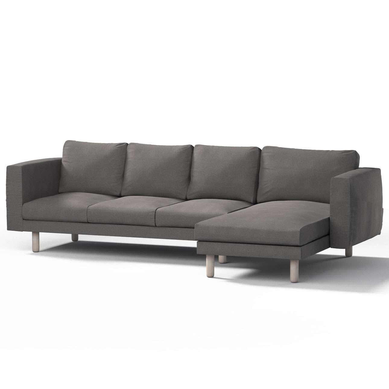 Pokrowiec na sofę Norsborg 4-osobową z szezlongiem w kolekcji Etna, tkanina: 705-35