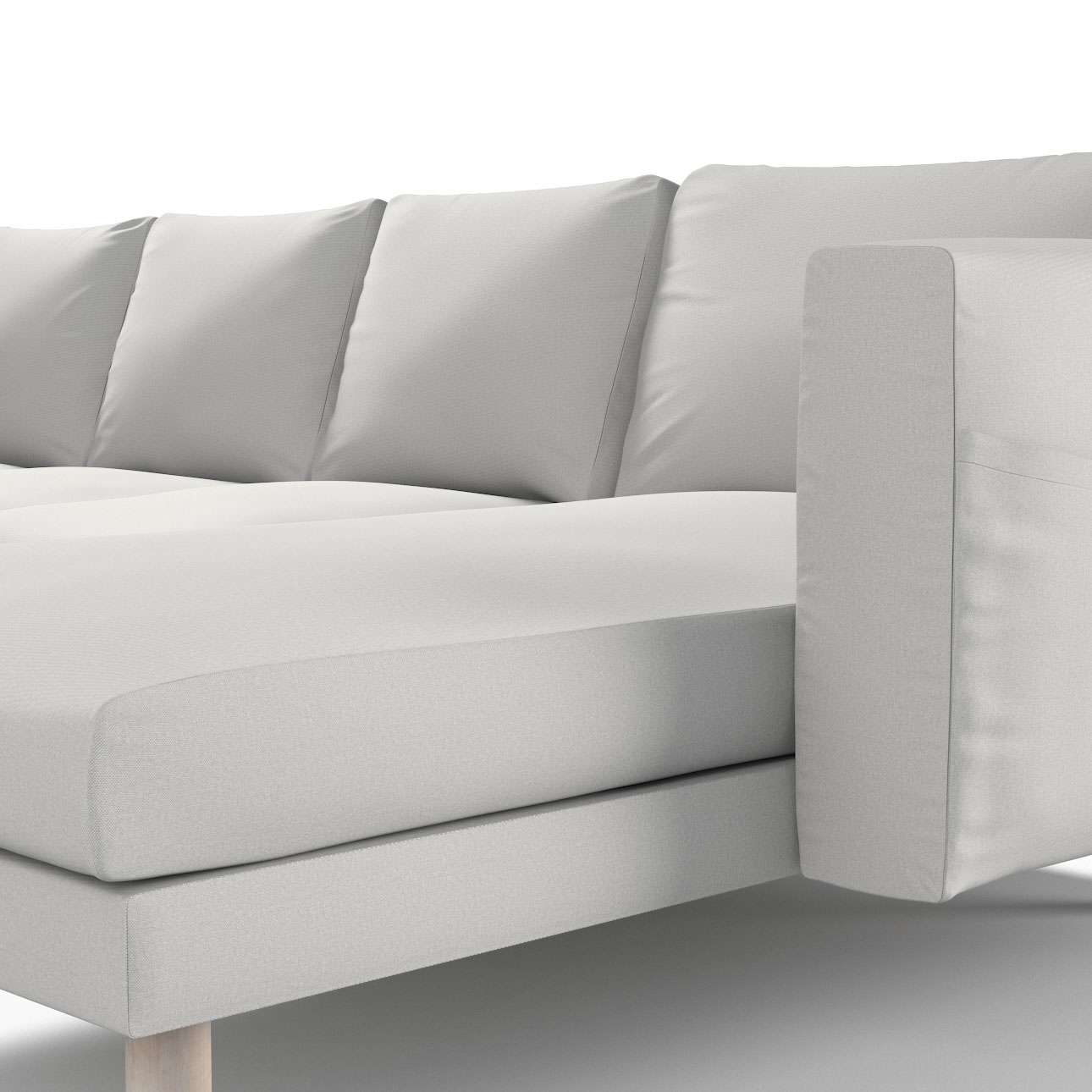 Pokrowiec na sofę Norsborg 4-osobową z szezlongiem w kolekcji Etna, tkanina: 705-90