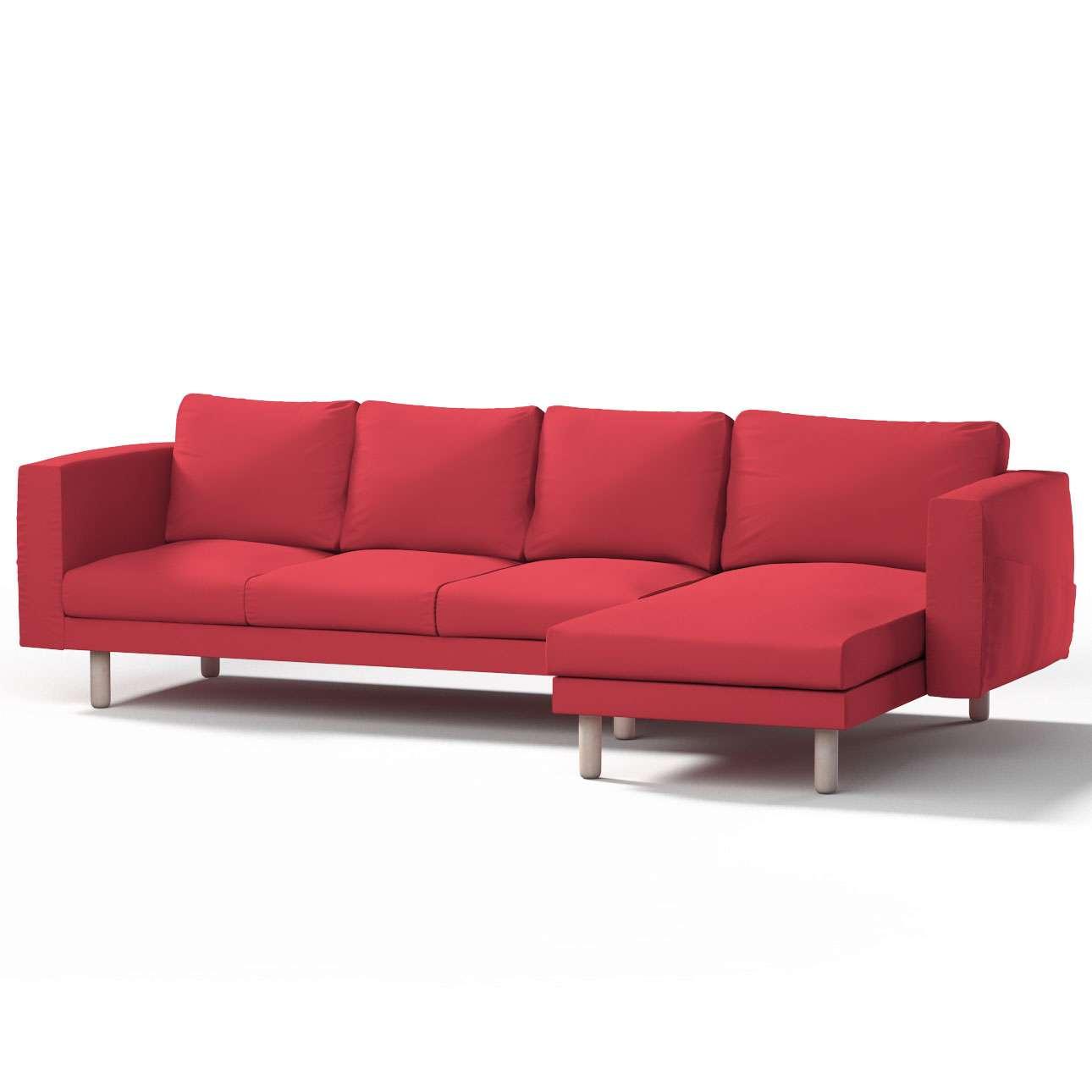 Pokrowiec na sofę Norsborg 4-osobową z szezlongiem w kolekcji Etna, tkanina: 705-60