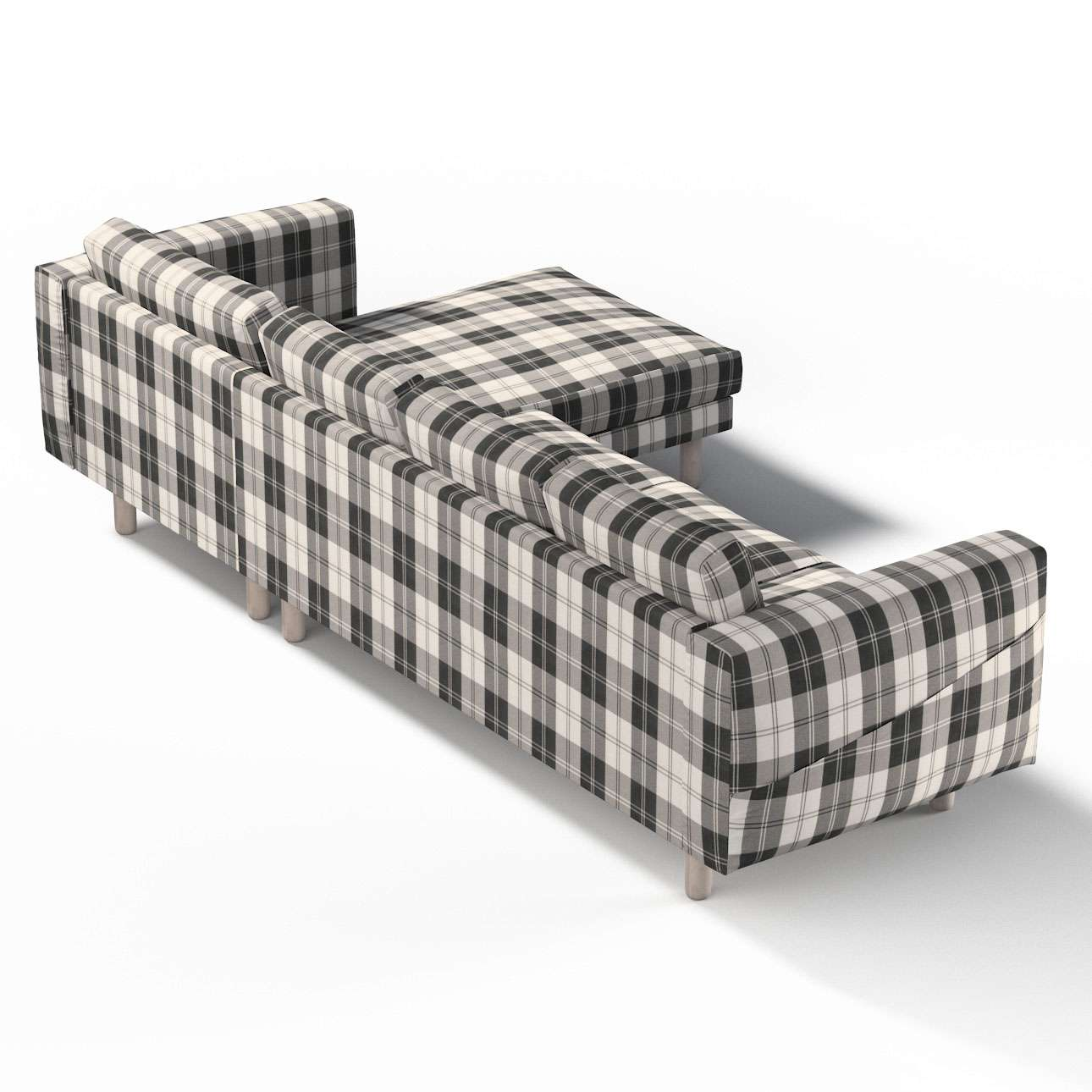 Pokrowiec na sofę Norsborg 4-osobową z szezlongiem w kolekcji Edinburgh, tkanina: 115-74