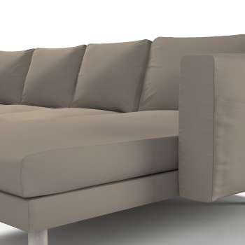 Pokrowiec na sofę Norsborg 4-osobową z szezlongiem w kolekcji Cotton Panama, tkanina: 702-28