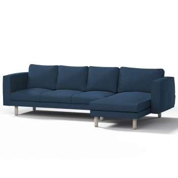 Pokrowiec na sofę Norsborg 4-osobową z szezlongiem w kolekcji Cotton Panama, tkanina: 702-30