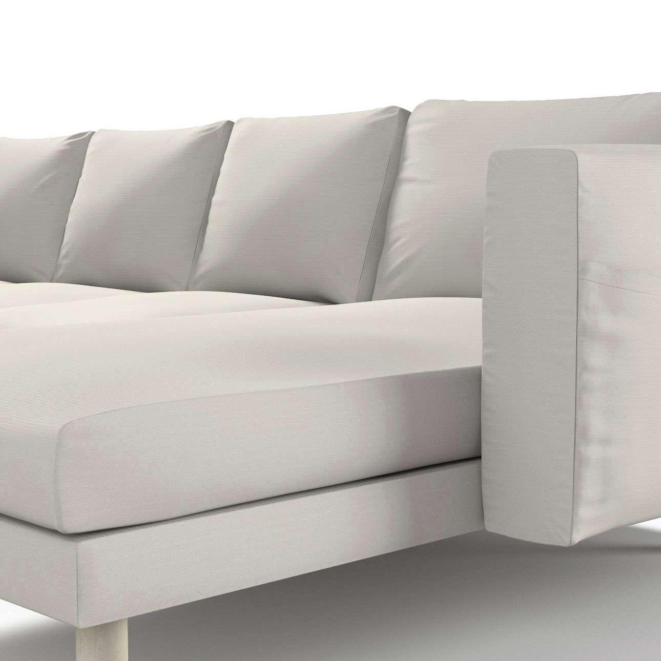 Pokrowiec na sofę Norsborg 4-osobową z szezlongiem w kolekcji Cotton Panama, tkanina: 702-31