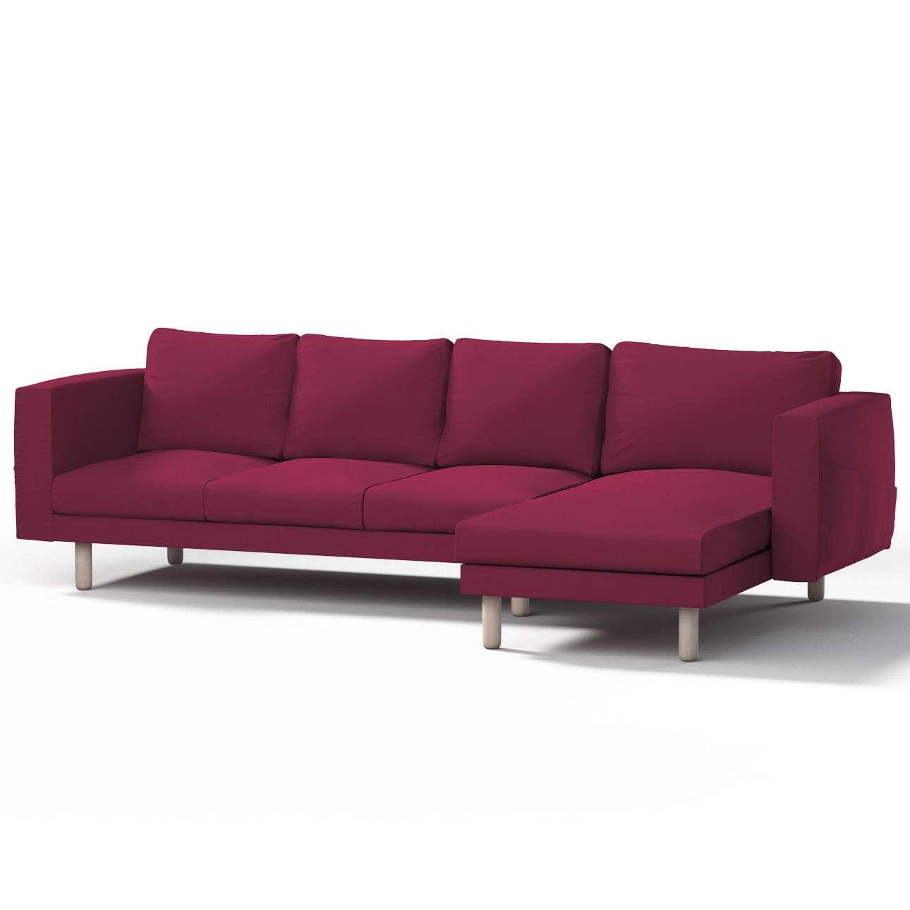 Norsborg Bezug für 4-Sitzer Sofa mit Recamiere, pflaume , Norsborg Bezug für 4-Sitzer Sofa mit Recamiere, Cotton Panama   Wohnzimmer > Sofas & Couches > Recamieren   Dekoria