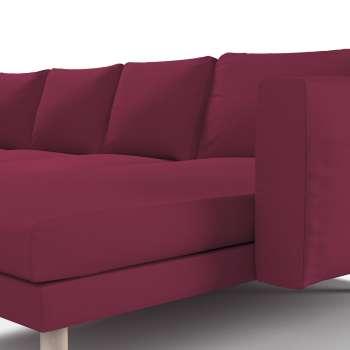 Pokrowiec na sofę Norsborg 4-osobową z szezlongiem w kolekcji Cotton Panama, tkanina: 702-32