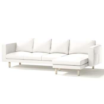 Pokrowiec na sofę Norsborg 4-osobową z szezlongiem w kolekcji Cotton Panama, tkanina: 702-34