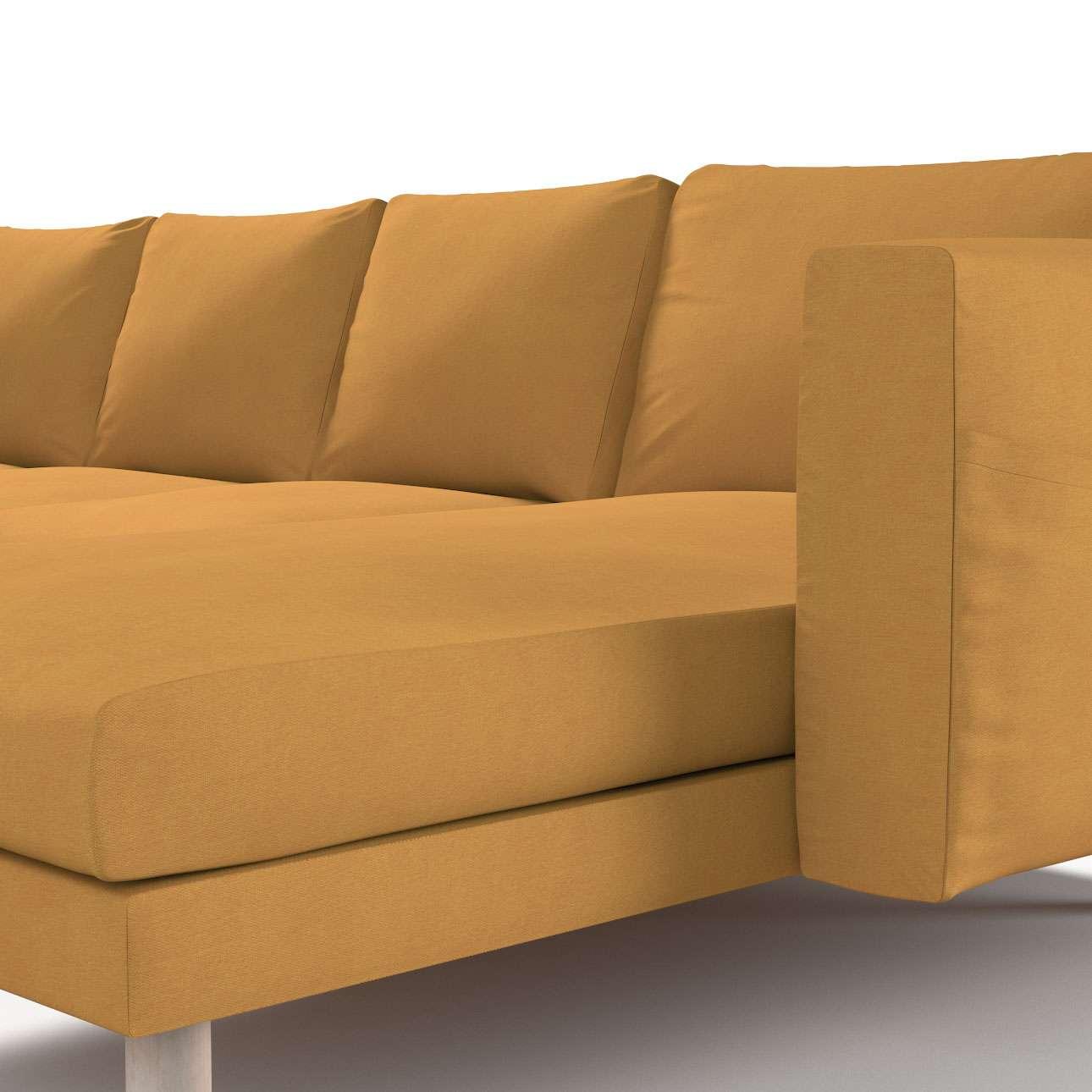 Pokrowiec na sofę Norsborg 4-osobową z szezlongiem w kolekcji Etna, tkanina: 705-04