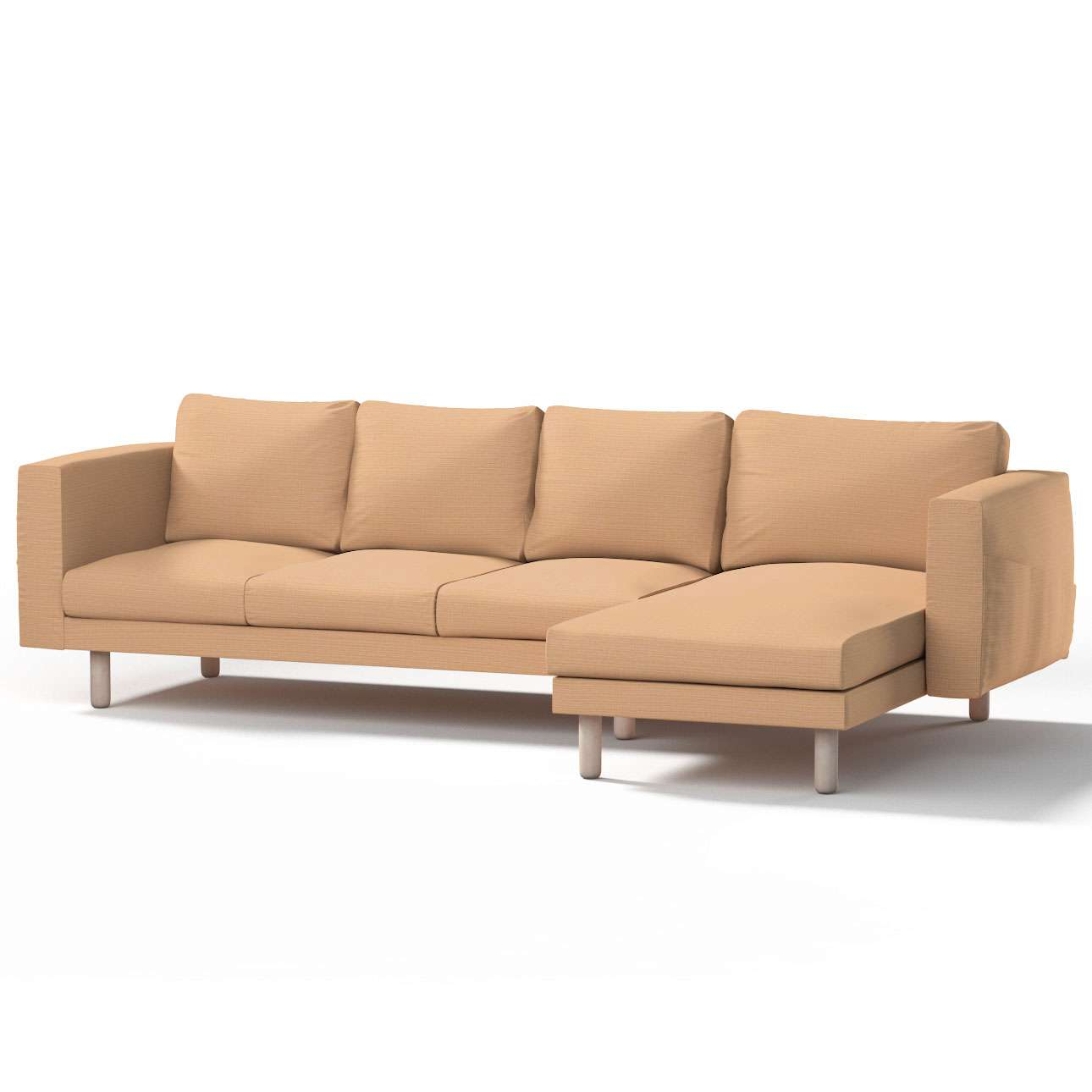 norsborg bezug f r 4 sitzer sofa mit recamiere sandfarben beige dekoria. Black Bedroom Furniture Sets. Home Design Ideas
