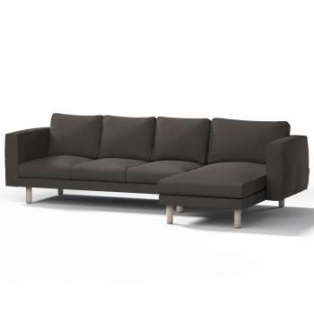 Pokrowiec na sofę Norsborg 4-osobową z szezlongiem w kolekcji Vintage, tkanina: 702-36