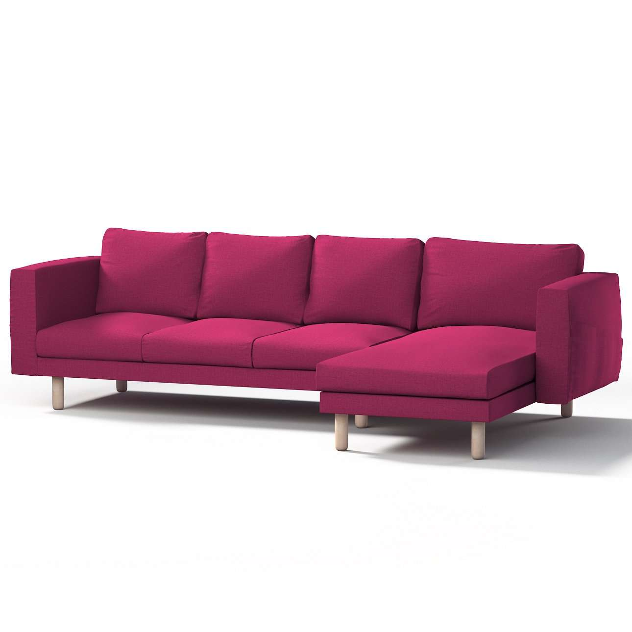 norsborg bezug f r 4 sitzer sofa mit recamiere rosa dekoria. Black Bedroom Furniture Sets. Home Design Ideas