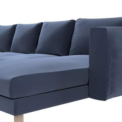 Pokrowiec na sofę Norsborg 4-osobową z szezlongiem w kolekcji Ingrid, tkanina: 705-39