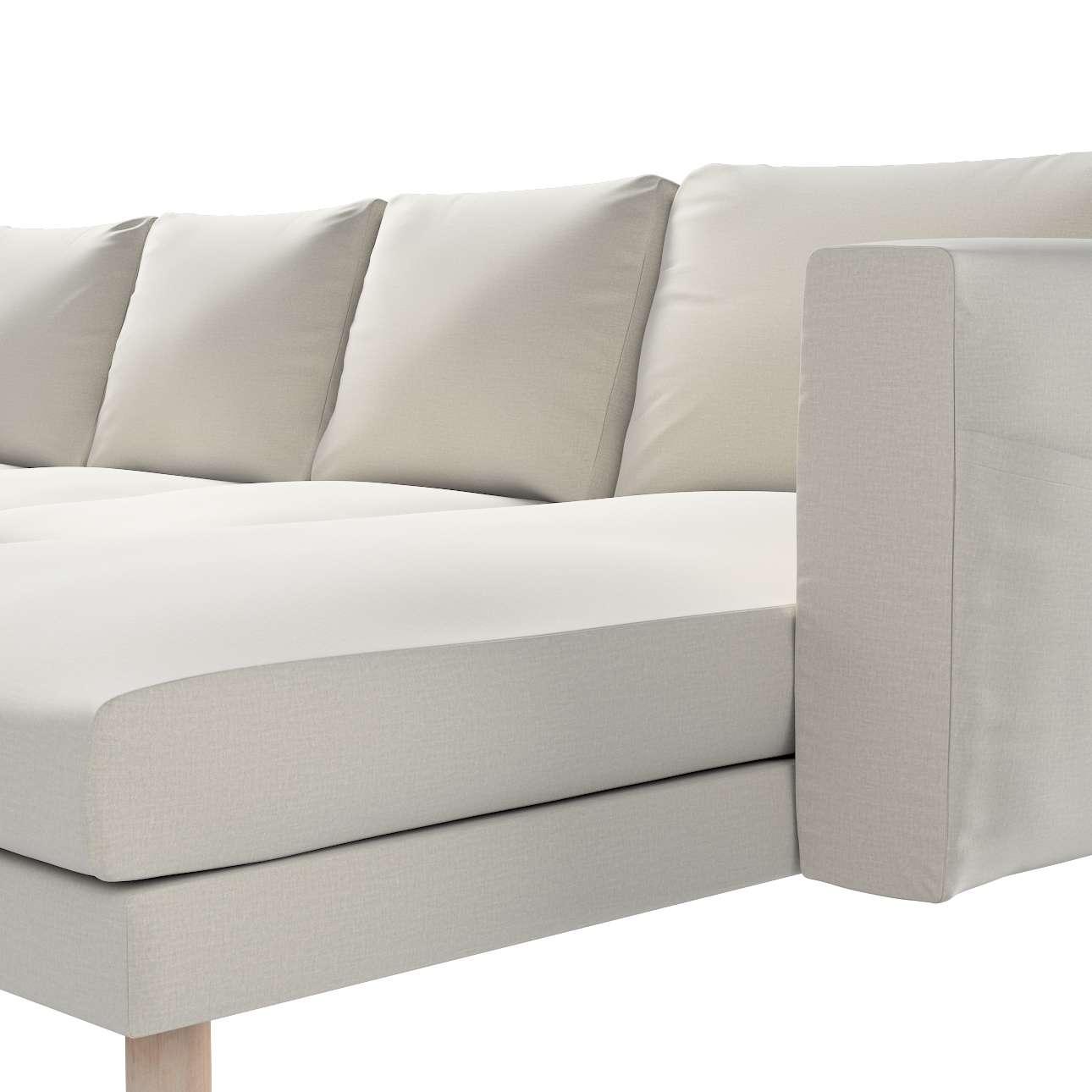 Pokrowiec na sofę Norsborg 4-osobową z szezlongiem w kolekcji Ingrid, tkanina: 705-40