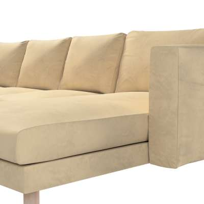 Pokrowiec na sofę Norsborg 4-osobową z szezlongiem w kolekcji Living, tkanina: 160-82