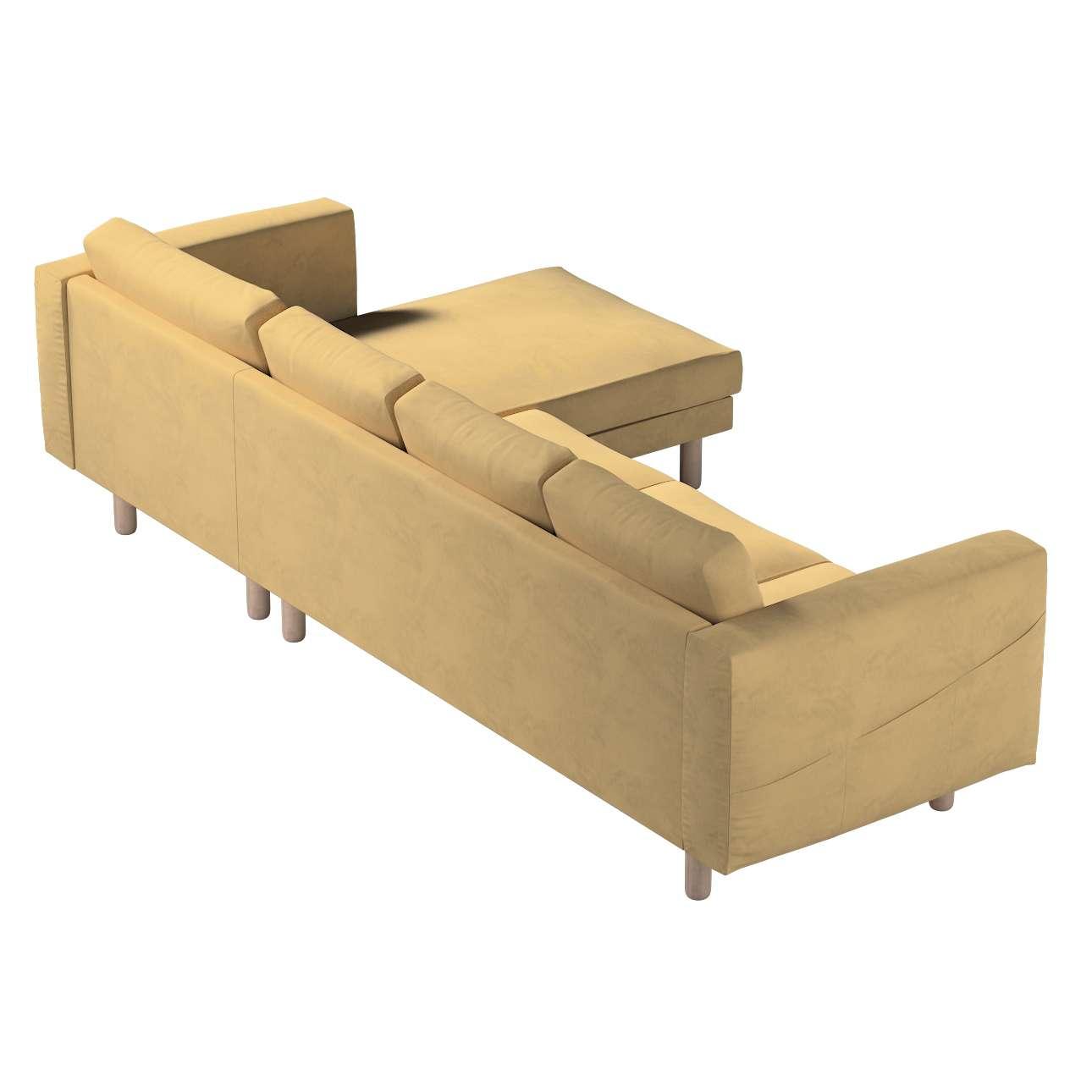 Pokrowiec na sofę Norsborg 4-osobową z szezlongiem w kolekcji Living, tkanina: 160-93