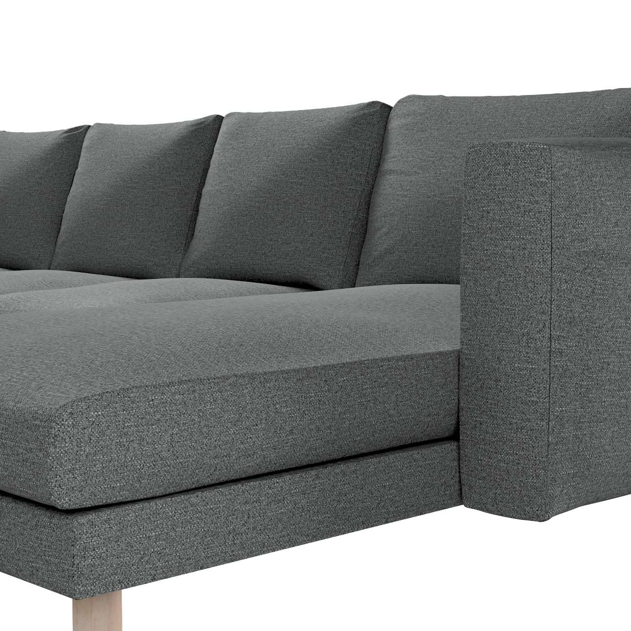 Pokrowiec na sofę Norsborg 4-osobową z szezlongiem w kolekcji Madrid, tkanina: 161-24