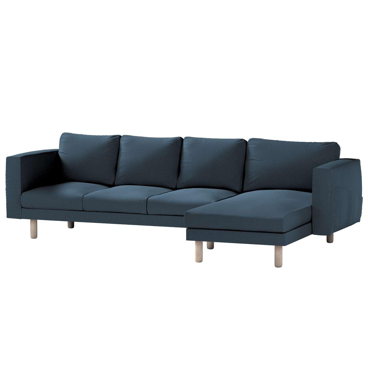Pokrowiec na sofę Norsborg 4-osobową z szezlongiem w kolekcji Etna, tkanina: 705-30