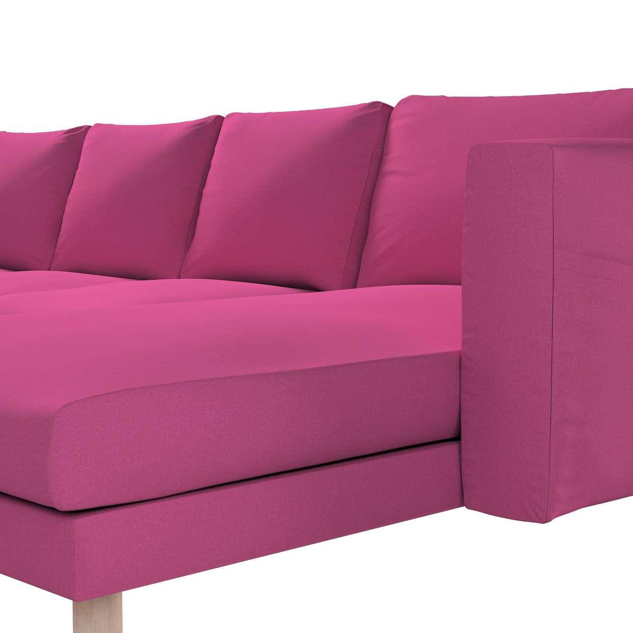 Pokrowiec na sofę Norsborg 4-osobową z szezlongiem w kolekcji Living, tkanina: 161-29
