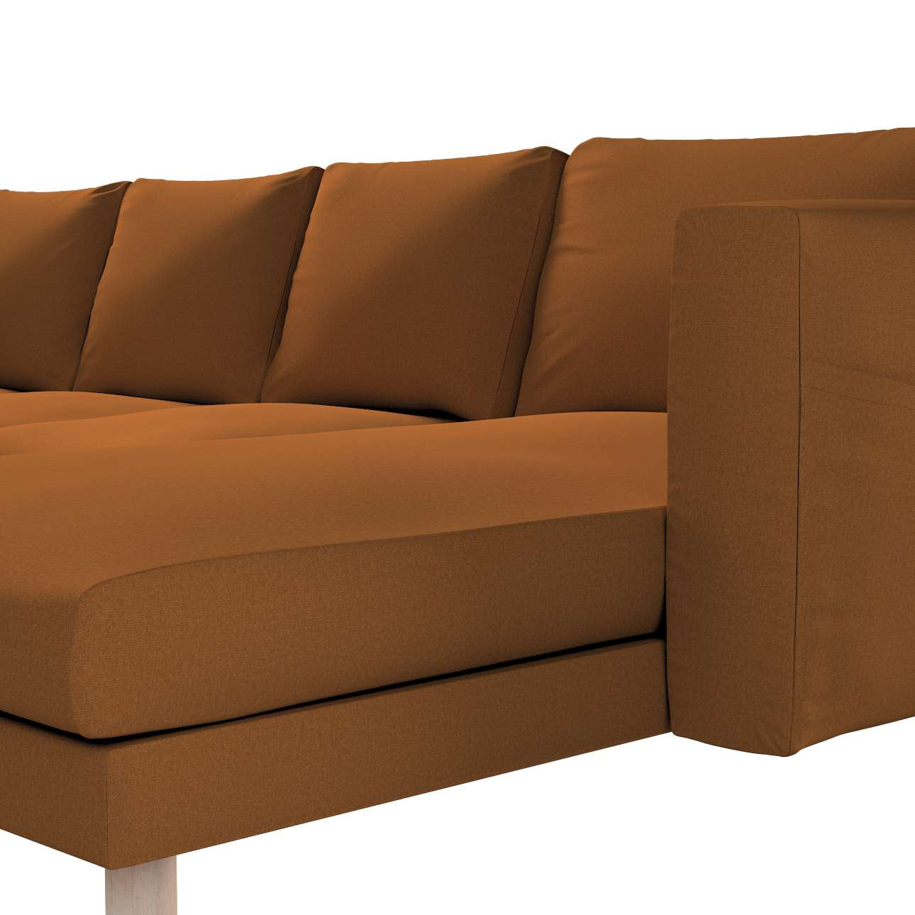 Pokrowiec na sofę Norsborg 4-osobową z szezlongiem w kolekcji Living, tkanina: 161-28