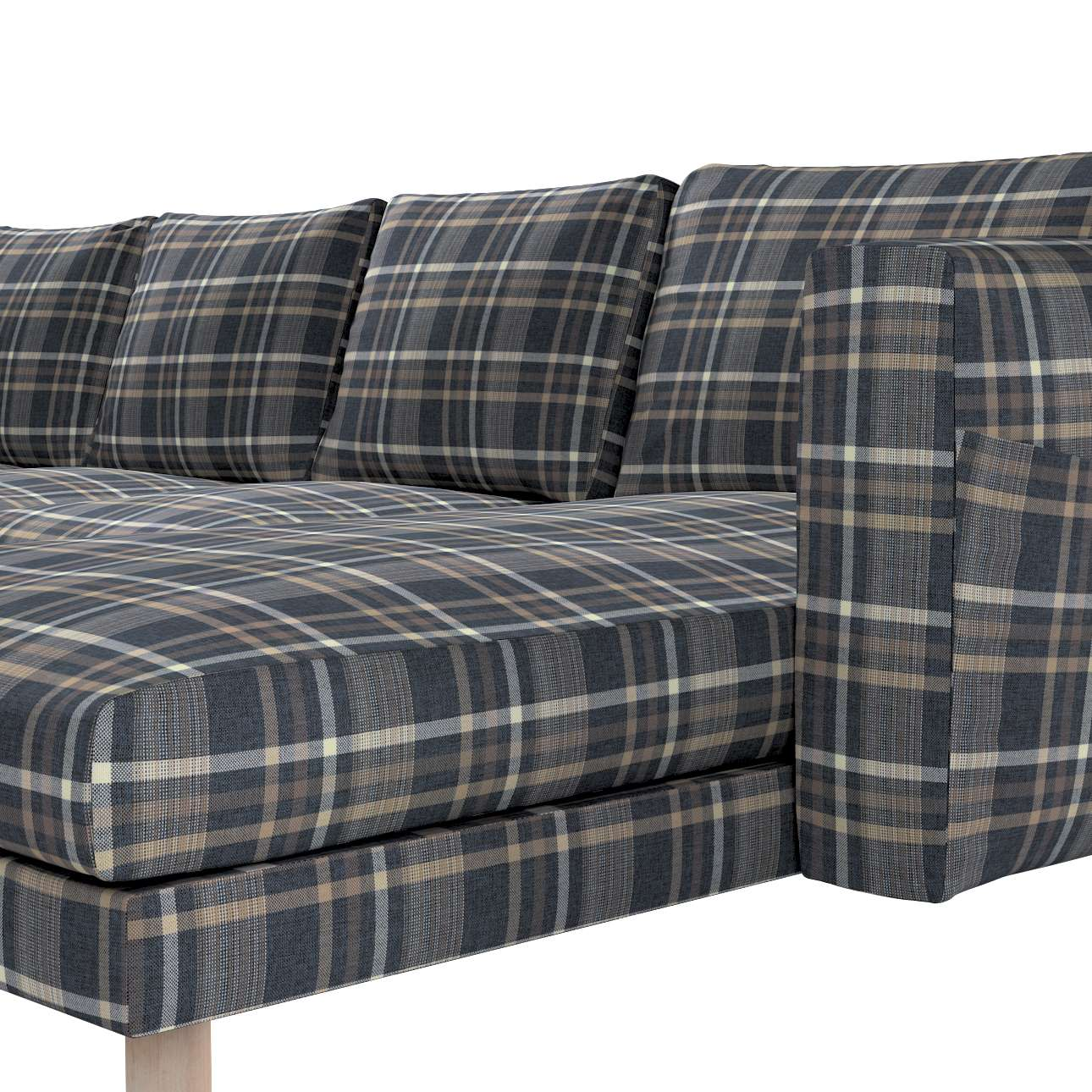 Pokrowiec na sofę Norsborg 4-osobową z szezlongiem w kolekcji Edinburgh, tkanina: 703-16