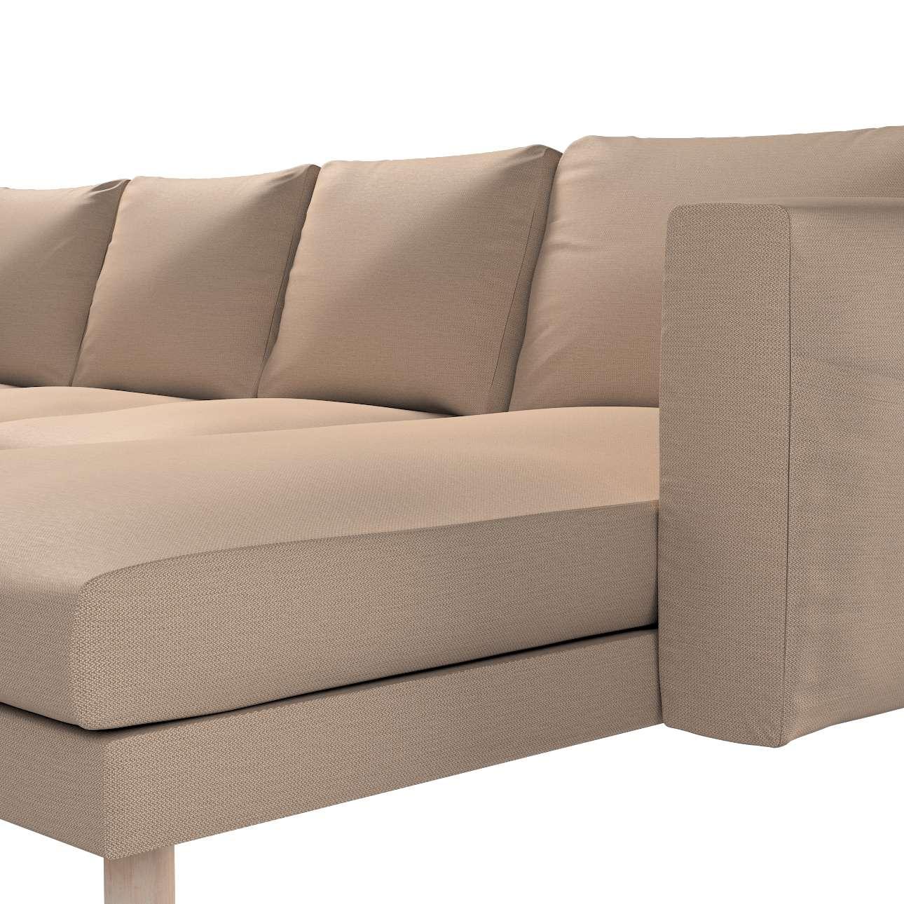 Pokrowiec na sofę Norsborg 4-osobową z szezlongiem w kolekcji Bergen, tkanina: 161-75