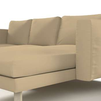 Norsborg 3-seat sofa with chaise longue cover in collection Panama Cotton, fabric: 702-01