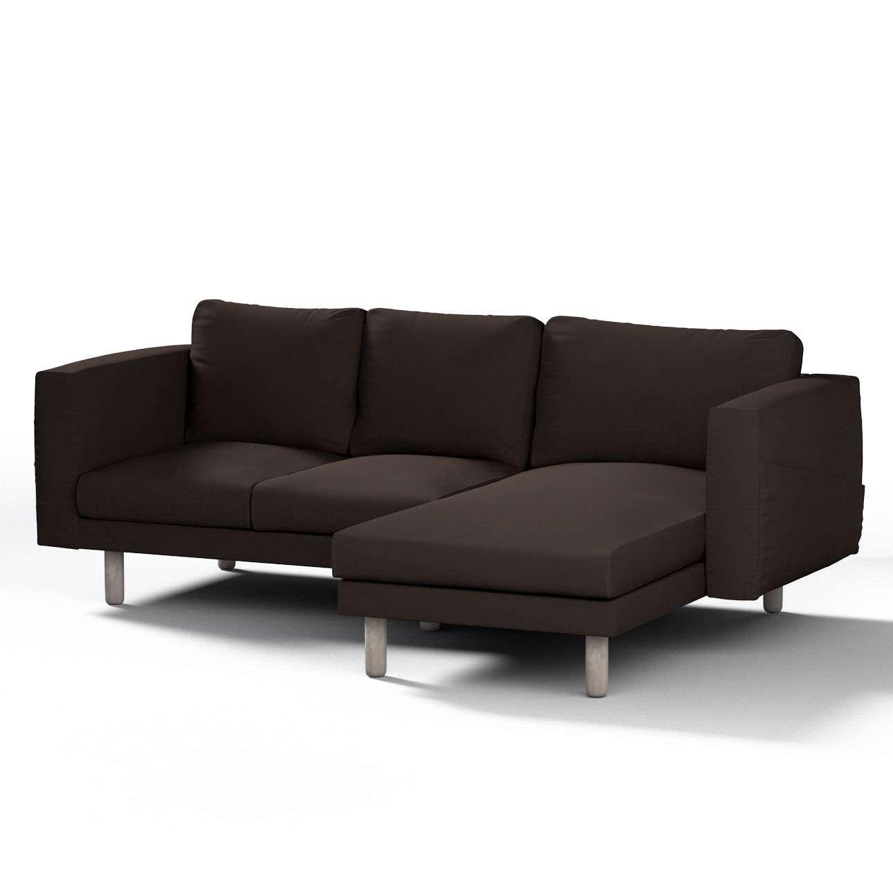 Pokrowiec na sofę Norsborg 3-osobową z szezlongiem w kolekcji Cotton Panama, tkanina: 702-03