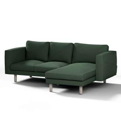 Norsborg 3 vietų sofos užvalkalas su gultais 702-06 tamsiai žalia (alyvuogių spalvos) Kolekcija Cotton Panama