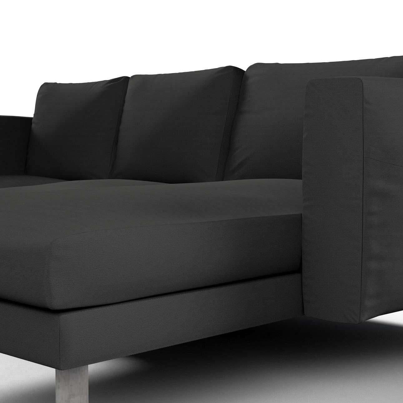 Pokrowiec na sofę Norsborg 3-osobową z szezlongiem w kolekcji Cotton Panama, tkanina: 702-08