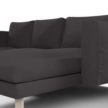 Pokrowiec na sofę Norsborg 3-osobową z szezlongiem w kolekcji Cotton Panama, tkanina: 702-09