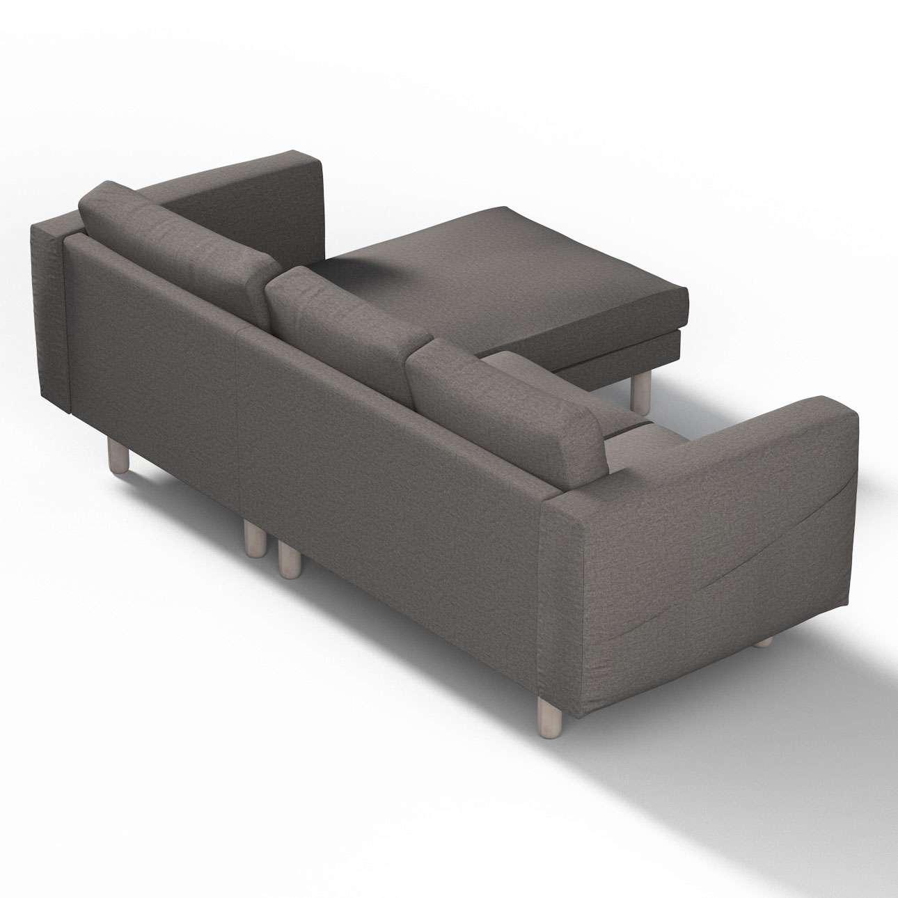 norsborg bezug f r 3 sitzer sofa mit recamiere grau dekoria. Black Bedroom Furniture Sets. Home Design Ideas