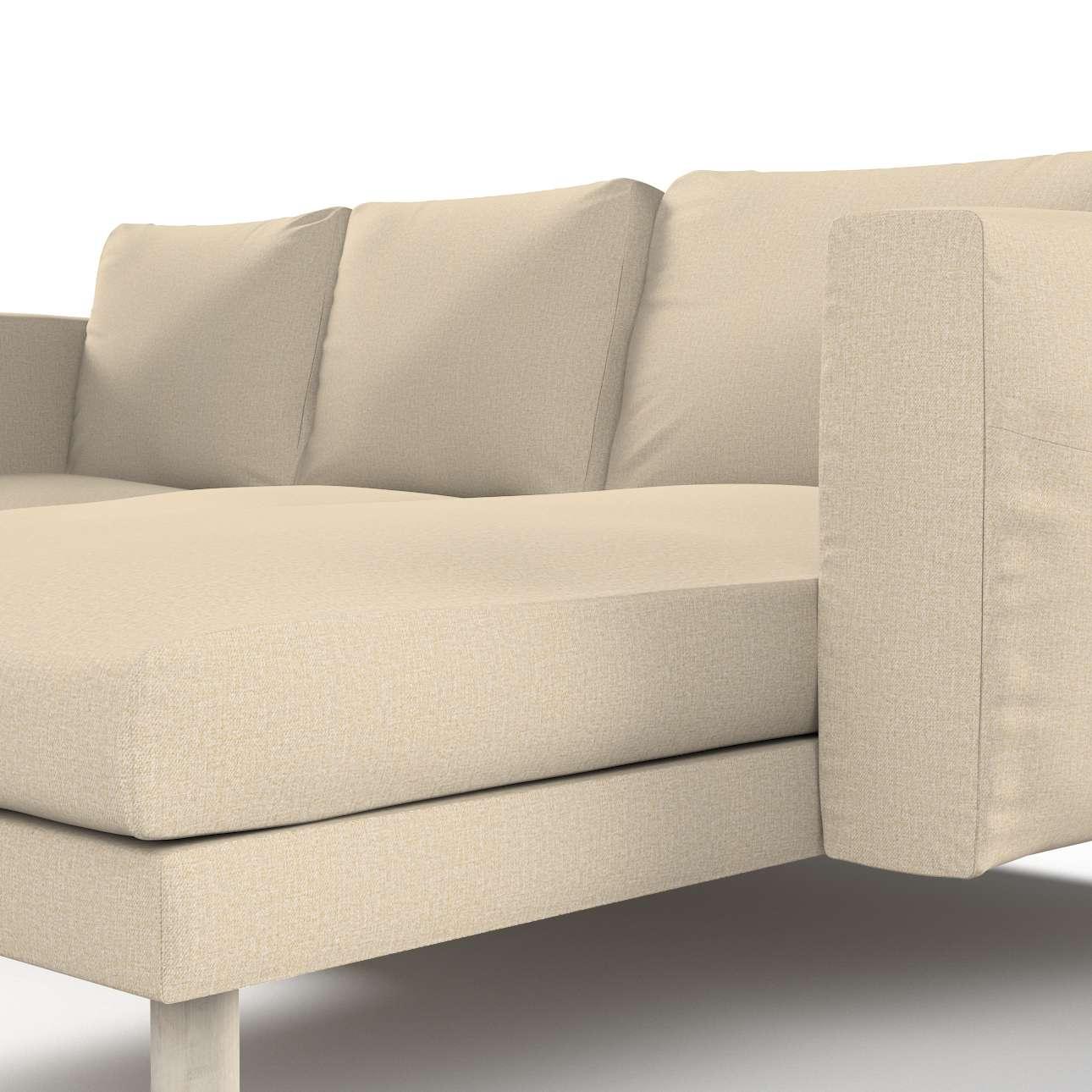 Pokrowiec na sofę Norsborg 3-osobową z szezlongiem w kolekcji Edinburgh, tkanina: 115-78