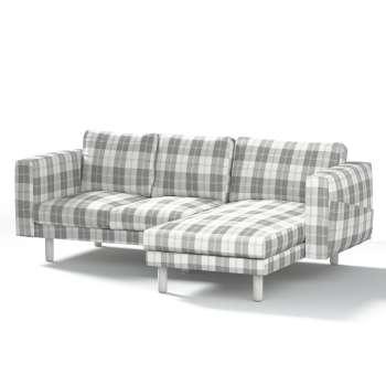 Pokrowiec na sofę Norsborg 3-osobową z szezlongiem w kolekcji Edinburgh, tkanina: 115-79