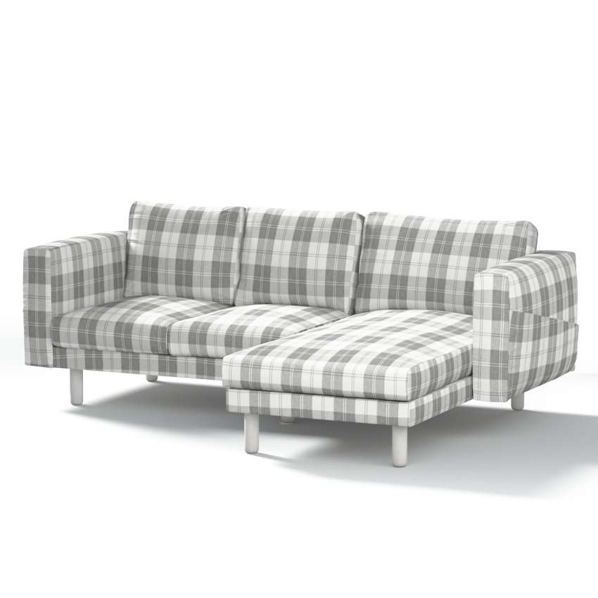 norsborg bezug f r 3 sitzer sofa mit recamiere wei grau dekoria. Black Bedroom Furniture Sets. Home Design Ideas
