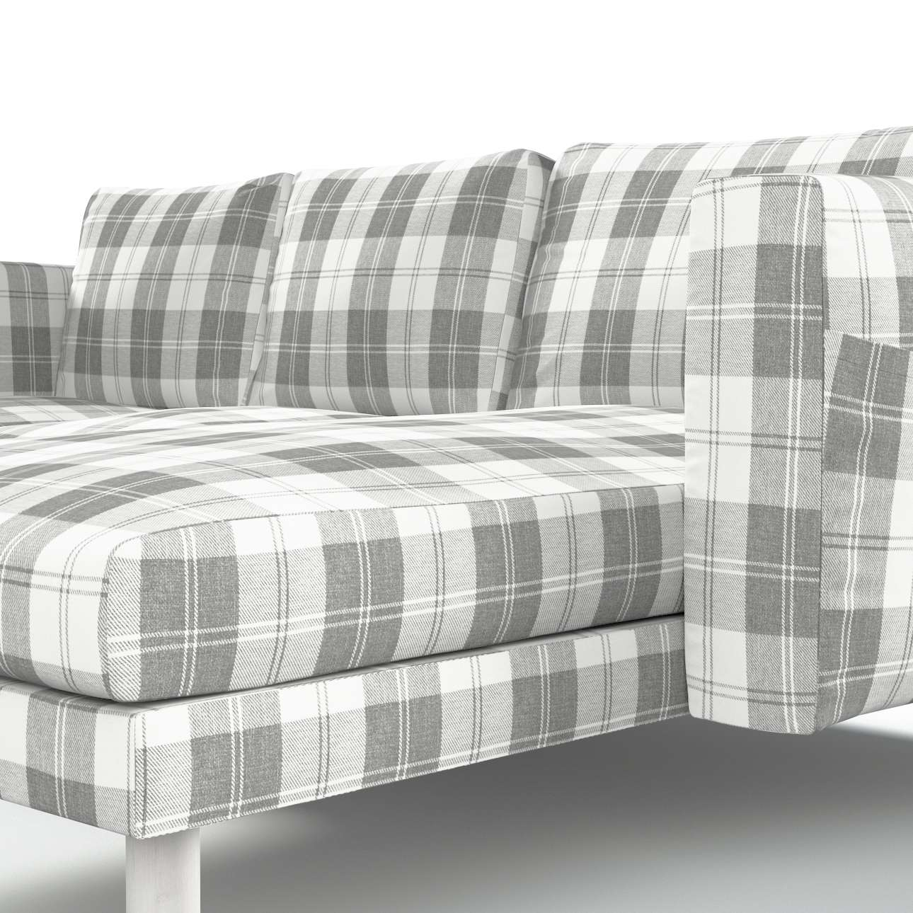norsborg bezug f r 3 sitzer sofa mit recamiere wei grau. Black Bedroom Furniture Sets. Home Design Ideas