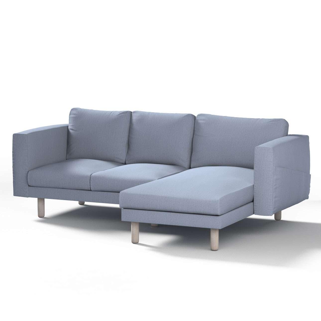 Pokrowiec na sofę Norsborg 3-osobową z szezlongiem w kolekcji Chenille, tkanina: 702-13