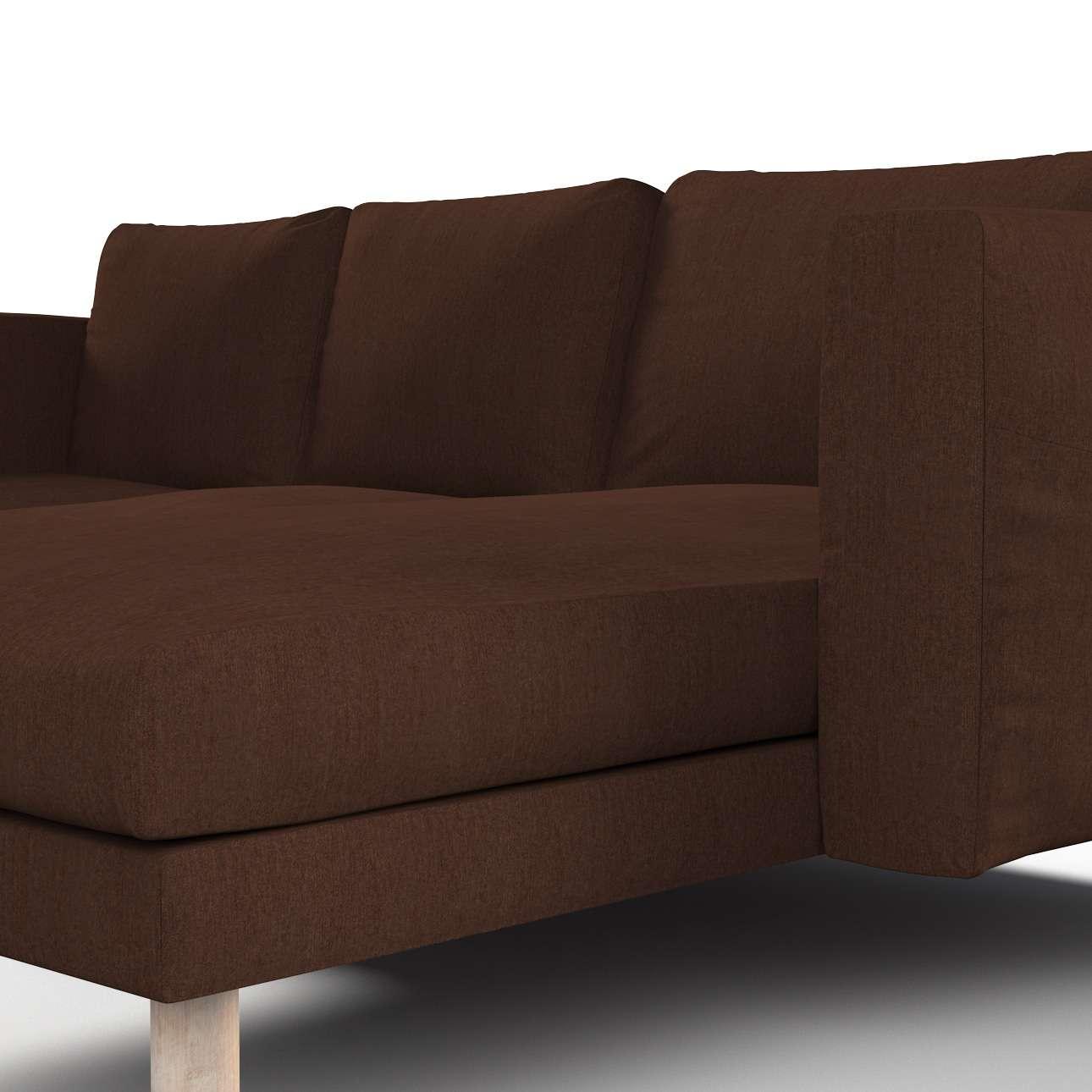 Pokrowiec na sofę Norsborg 3-osobową z szezlongiem w kolekcji Chenille, tkanina: 702-18