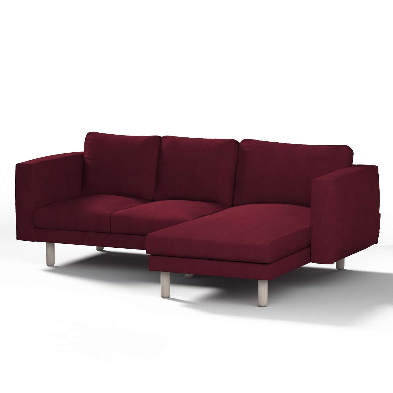 Pokrowiec na sofę Norsborg 3-osobową z szezlongiem w kolekcji Chenille, tkanina: 702-19