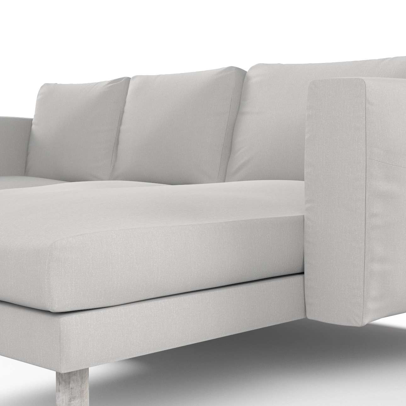 Pokrowiec na sofę Norsborg 3-osobową z szezlongiem w kolekcji Chenille, tkanina: 702-23