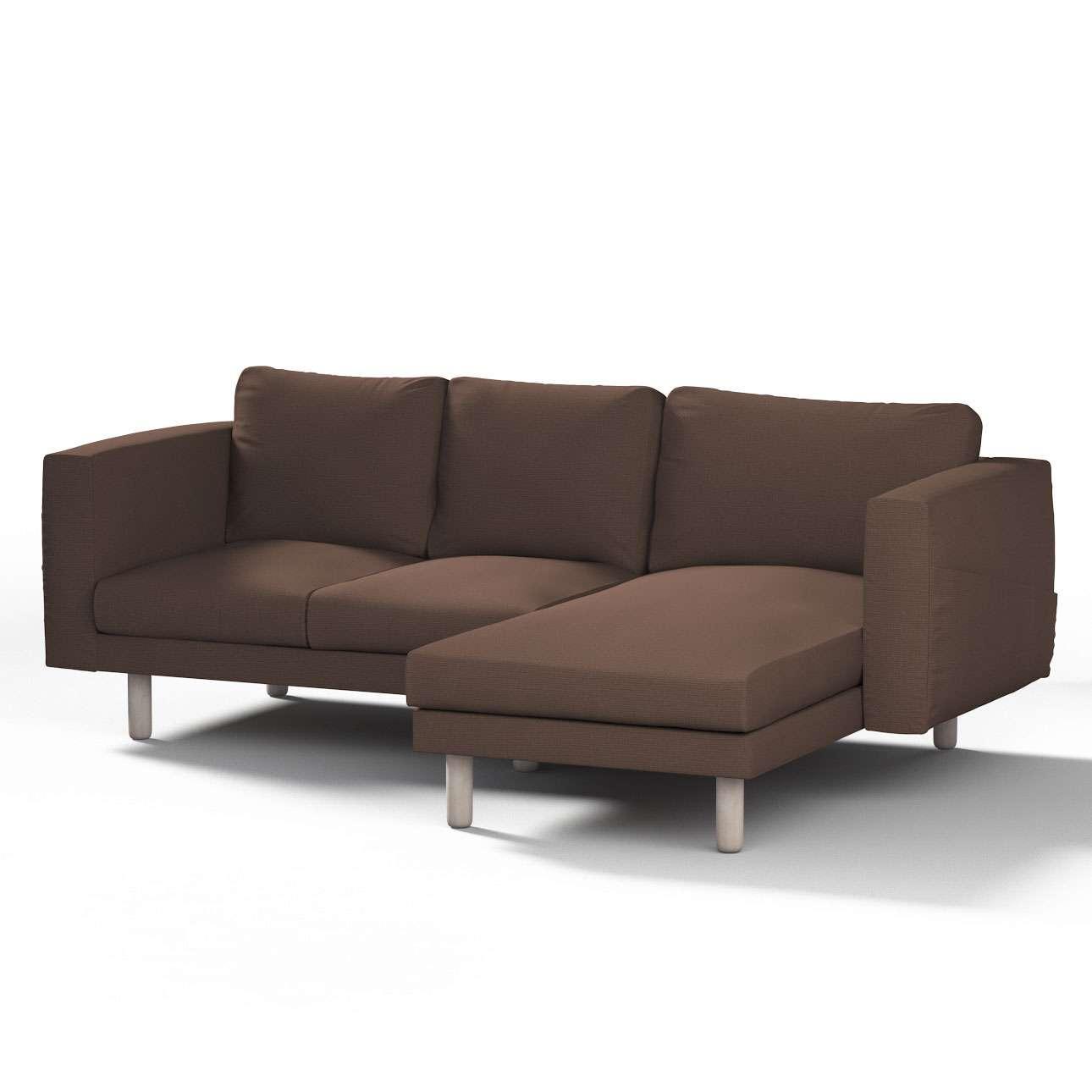 Pokrowiec na sofę Norsborg 3-osobową z szezlongiem w kolekcji Etna, tkanina: 705-08