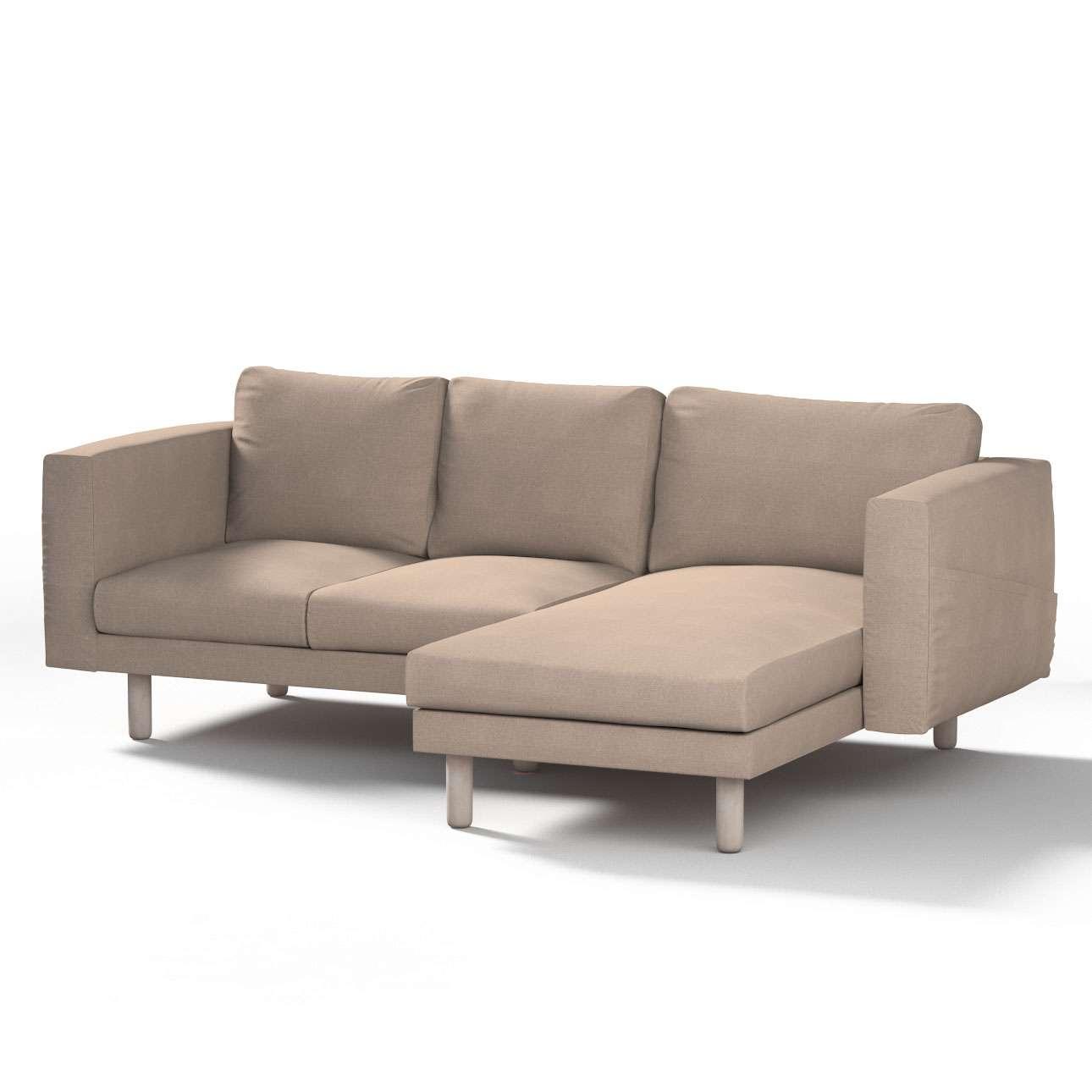 Pokrowiec na sofę Norsborg 3-osobową z szezlongiem w kolekcji Etna, tkanina: 705-09