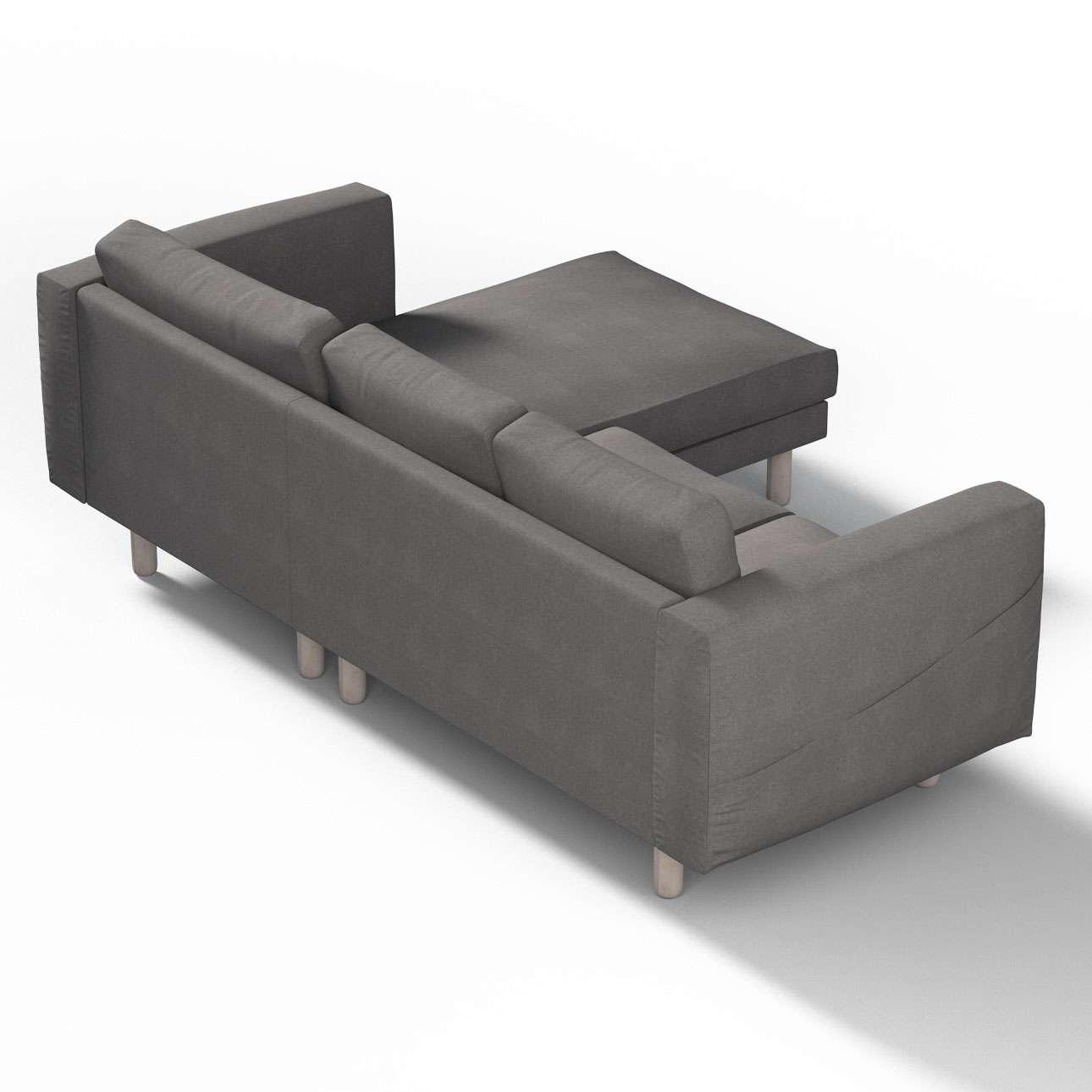 norsborg bezug f r 3 sitzer sofa mit recamiere dunkelgrau dekoria. Black Bedroom Furniture Sets. Home Design Ideas