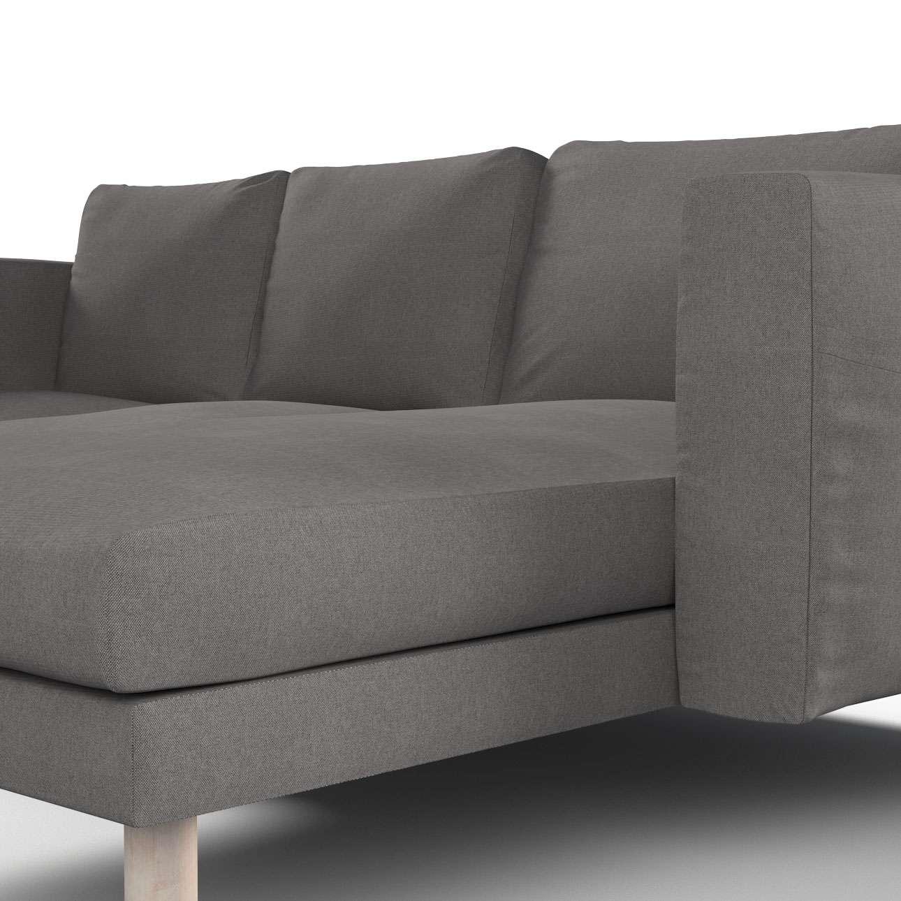 norsborg bezug f r 3 sitzer sofa mit recamiere dunkelgrau. Black Bedroom Furniture Sets. Home Design Ideas