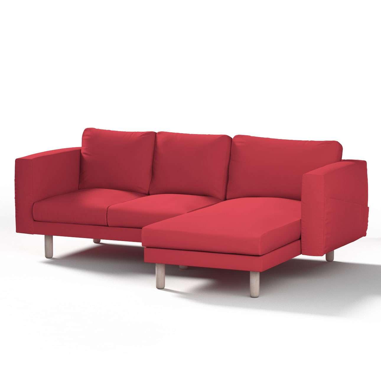 Pokrowiec na sofę Norsborg 3-osobową z szezlongiem w kolekcji Etna, tkanina: 705-60