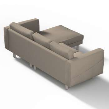 Pokrowiec na sofę Norsborg 3-osobową z szezlongiem w kolekcji Cotton Panama, tkanina: 702-28