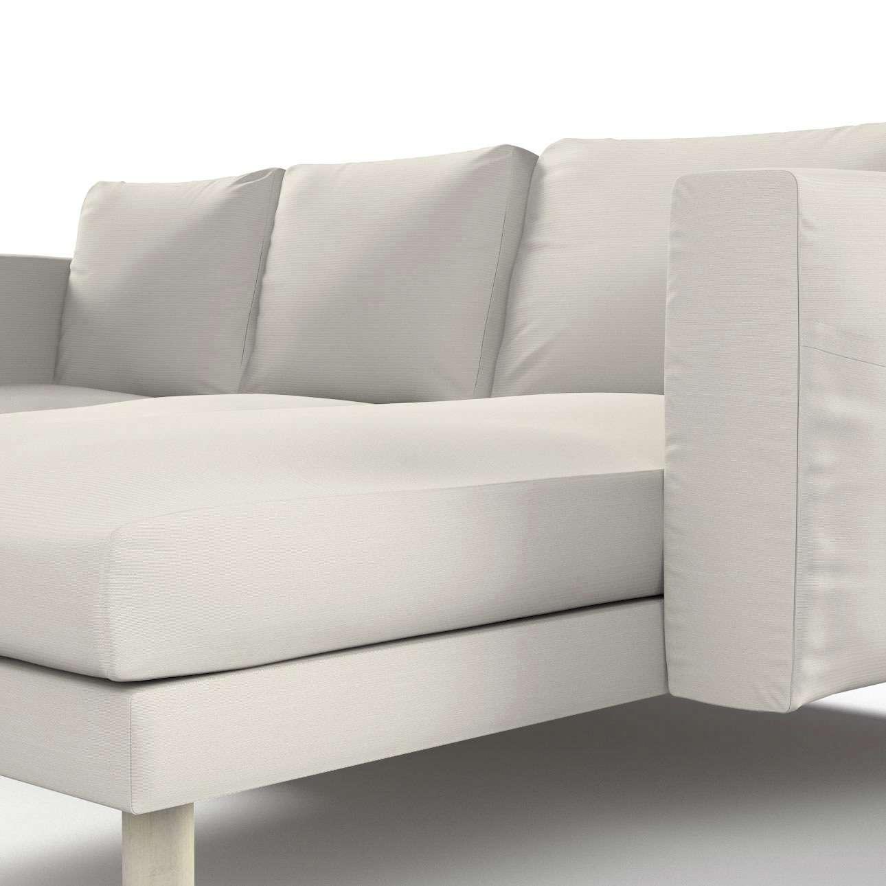 norsborg bezug f r 3 sitzer sofa mit recamiere hellgrau. Black Bedroom Furniture Sets. Home Design Ideas