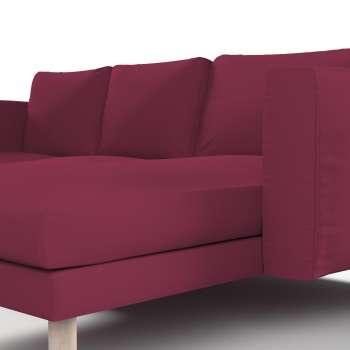 Pokrowiec na sofę Norsborg 3-osobową z szezlongiem w kolekcji Cotton Panama, tkanina: 702-32
