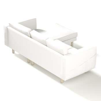 Pokrowiec na sofę Norsborg 3-osobową z szezlongiem w kolekcji Cotton Panama, tkanina: 702-34