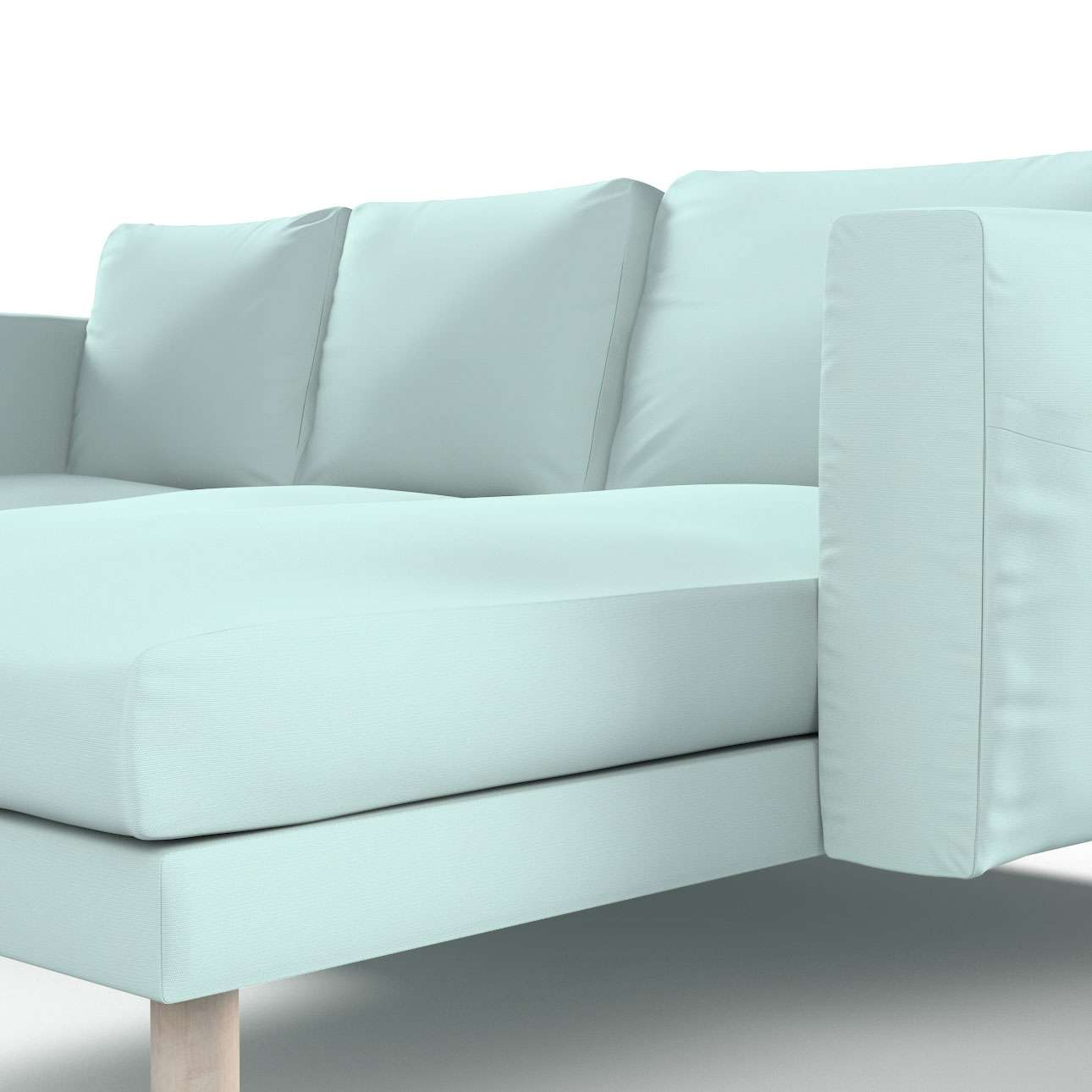 norsborg bezug f r 3 sitzer sofa mit recamiere hellblau dekoria. Black Bedroom Furniture Sets. Home Design Ideas