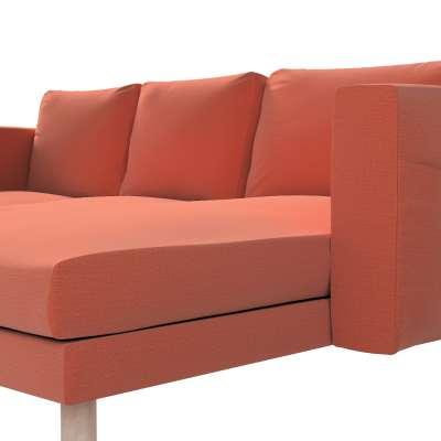 Pokrowiec na sofę Norsborg 3-osobową z szezlongiem w kolekcji Ingrid, tkanina: 705-37